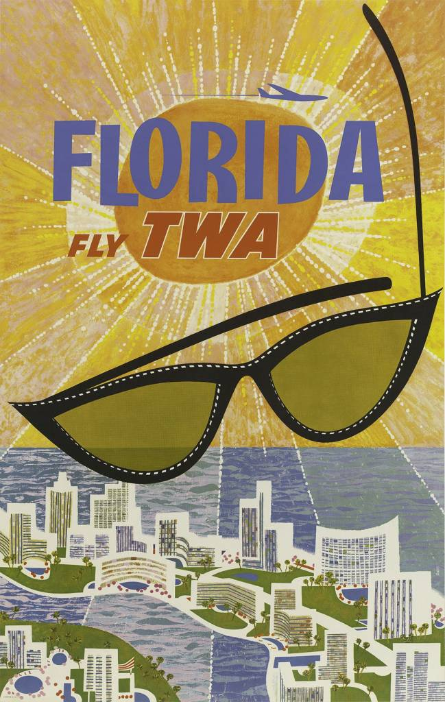 Fly TWA Florida David Klein 1960