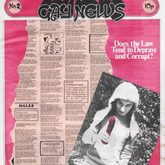 Covers of the First Six Issues of Gay News from 1972