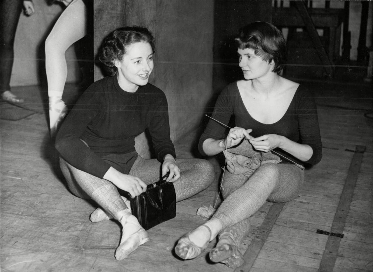 Roma Duncan and Anne Rowse During Rehearsals For The Concerto Grosso Ballet At The Empire Theatre Edinburgh.