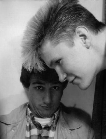 MARK & RUSS WITH HIS LATEST HAIRCUT 1983