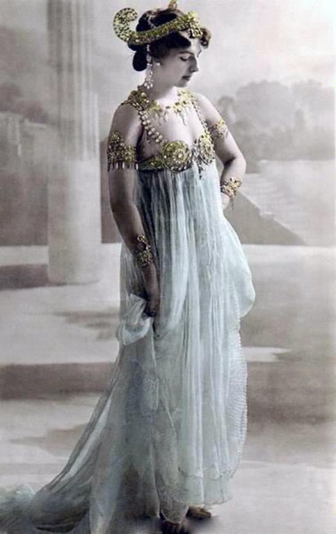 Mata Hari, colored photograph postcard