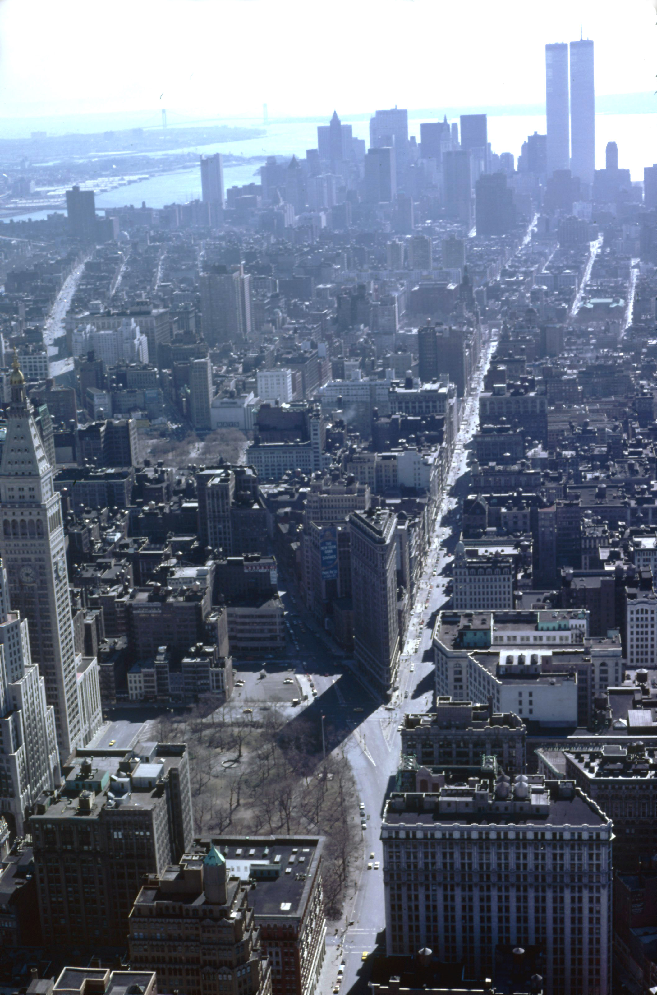 NYC from Empire State 1979