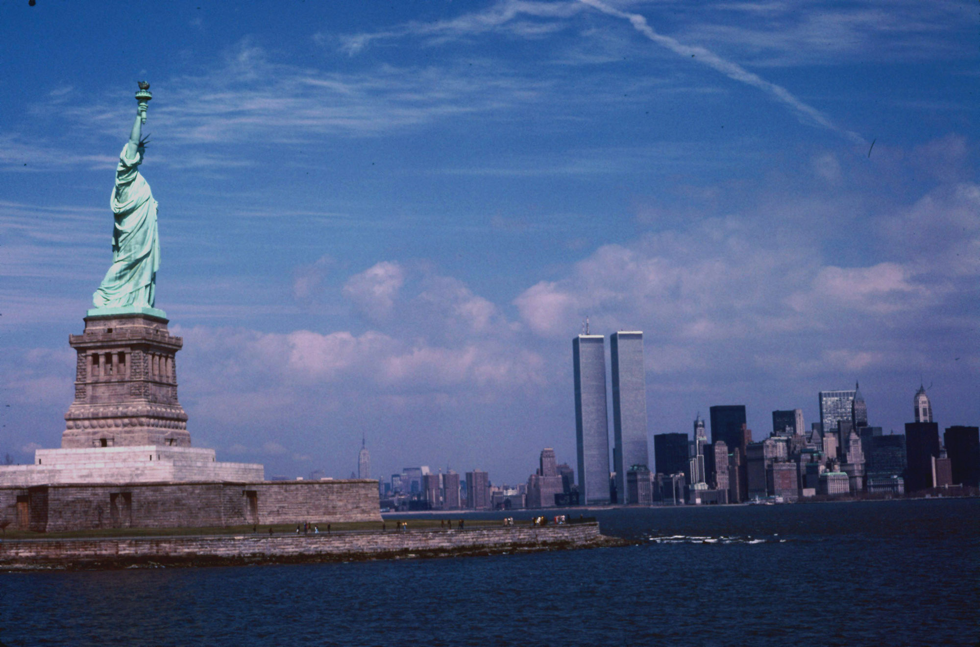 NYC Statue of Liberty and Twin Towers 1979