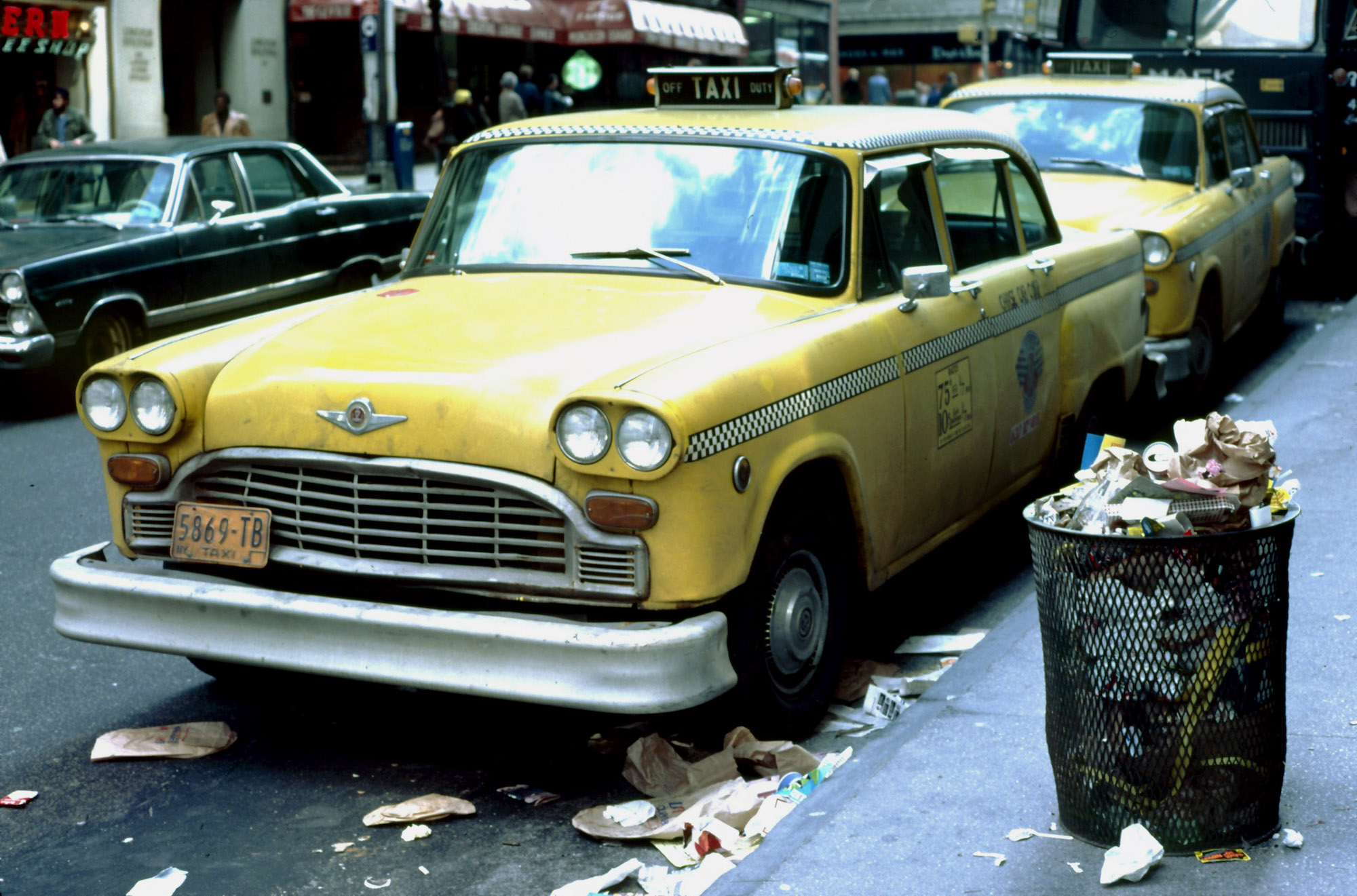 New York City taxi 1979
