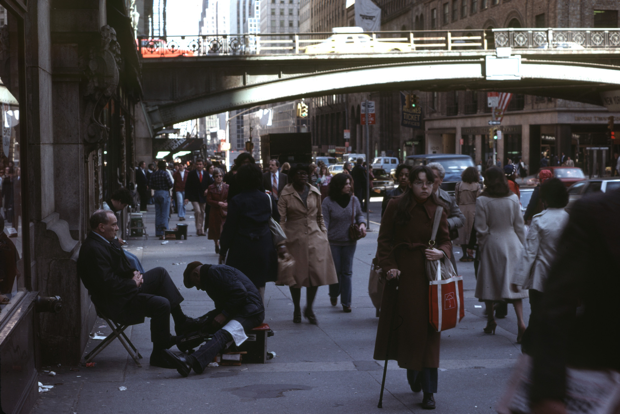 New York City 1979 - Shoe Shining outside Grand Central Station
