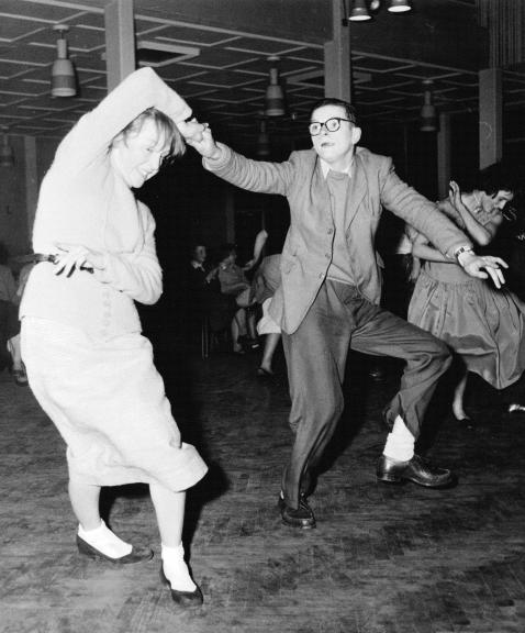 Teenagers at the dance 1957