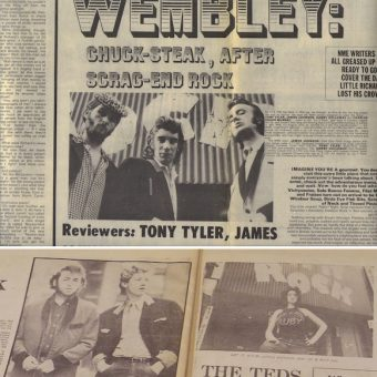 The Teds 1972 Wembley Comeback Starring McLaren & Westwood's Let It Rock In The NME And Evening Standard