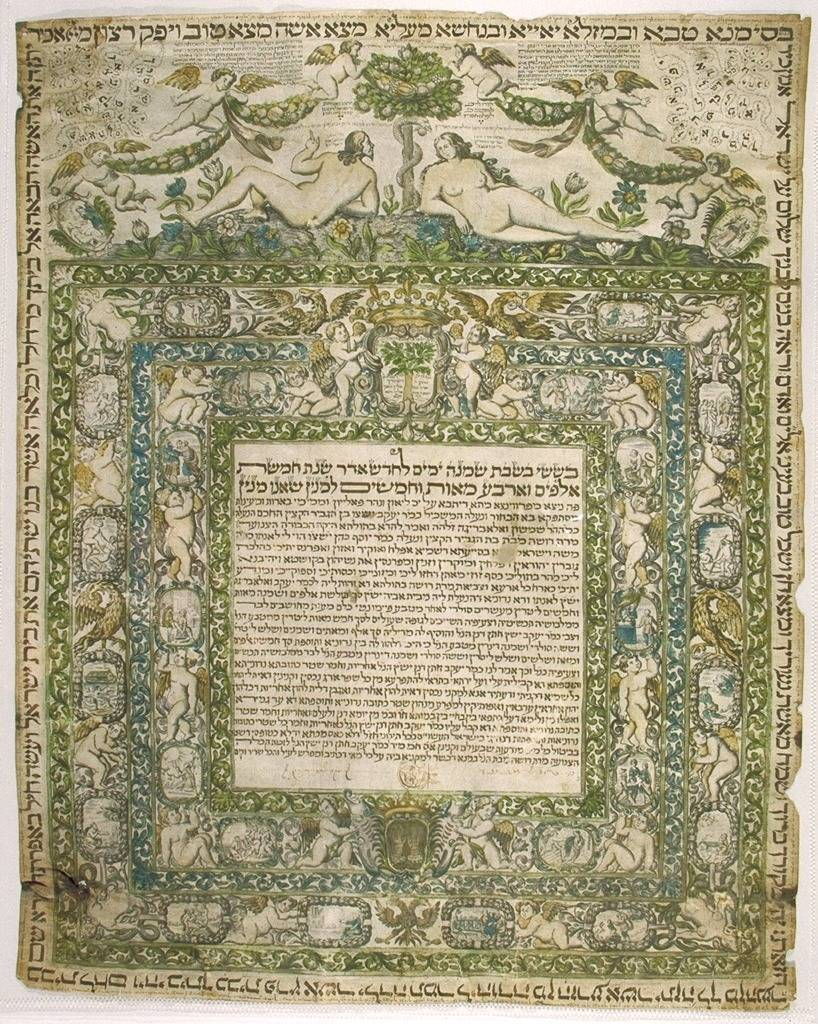 The core of the Ketubah. The central Aramaic contract text. Comment View full size 407×450 Ketubah- Standard Aramaic Text