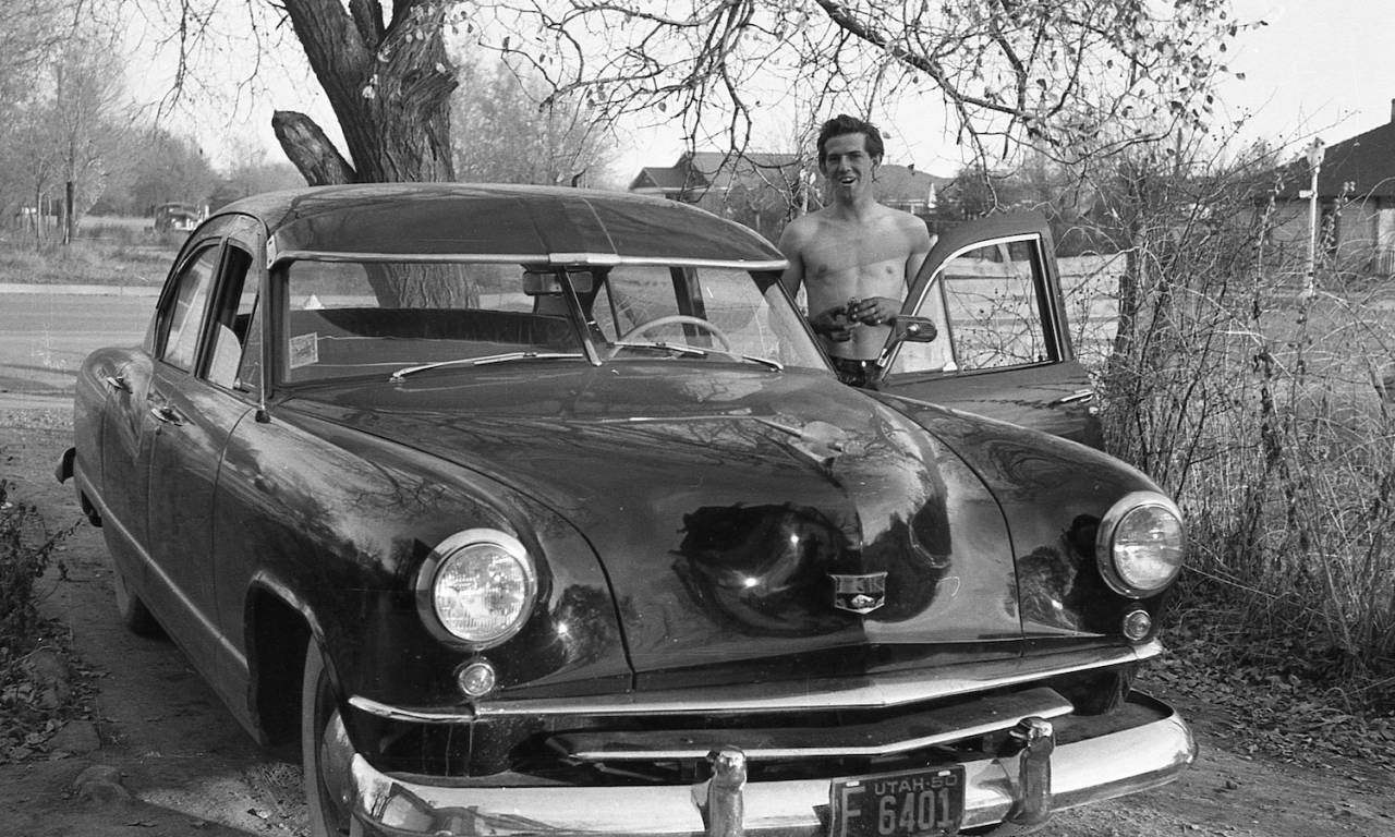 My Uncle Robert Leonard with a Kaiser in 1950 in Price, Utah.