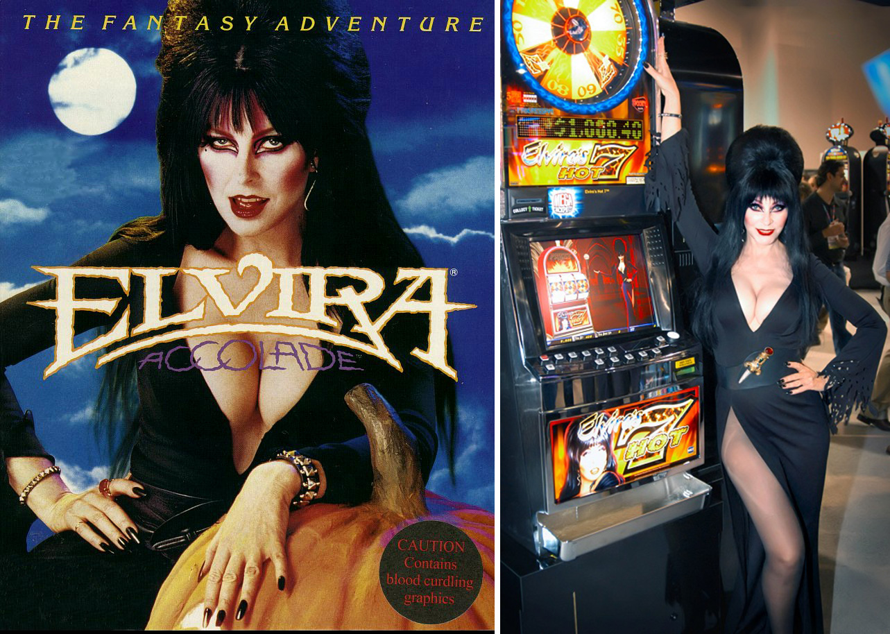 Elvira's Accolade video game, and her casino game