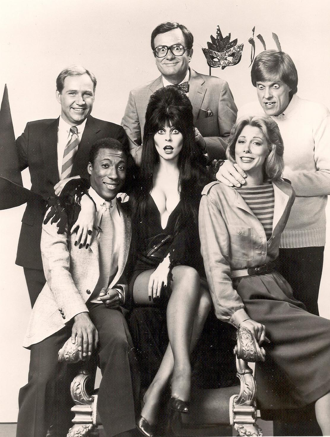 "Elvira guest appearance on ""Real People"""