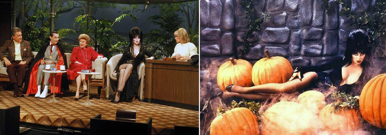 Elvira on The Tonight Show (with Joan Rivers as stand in host)