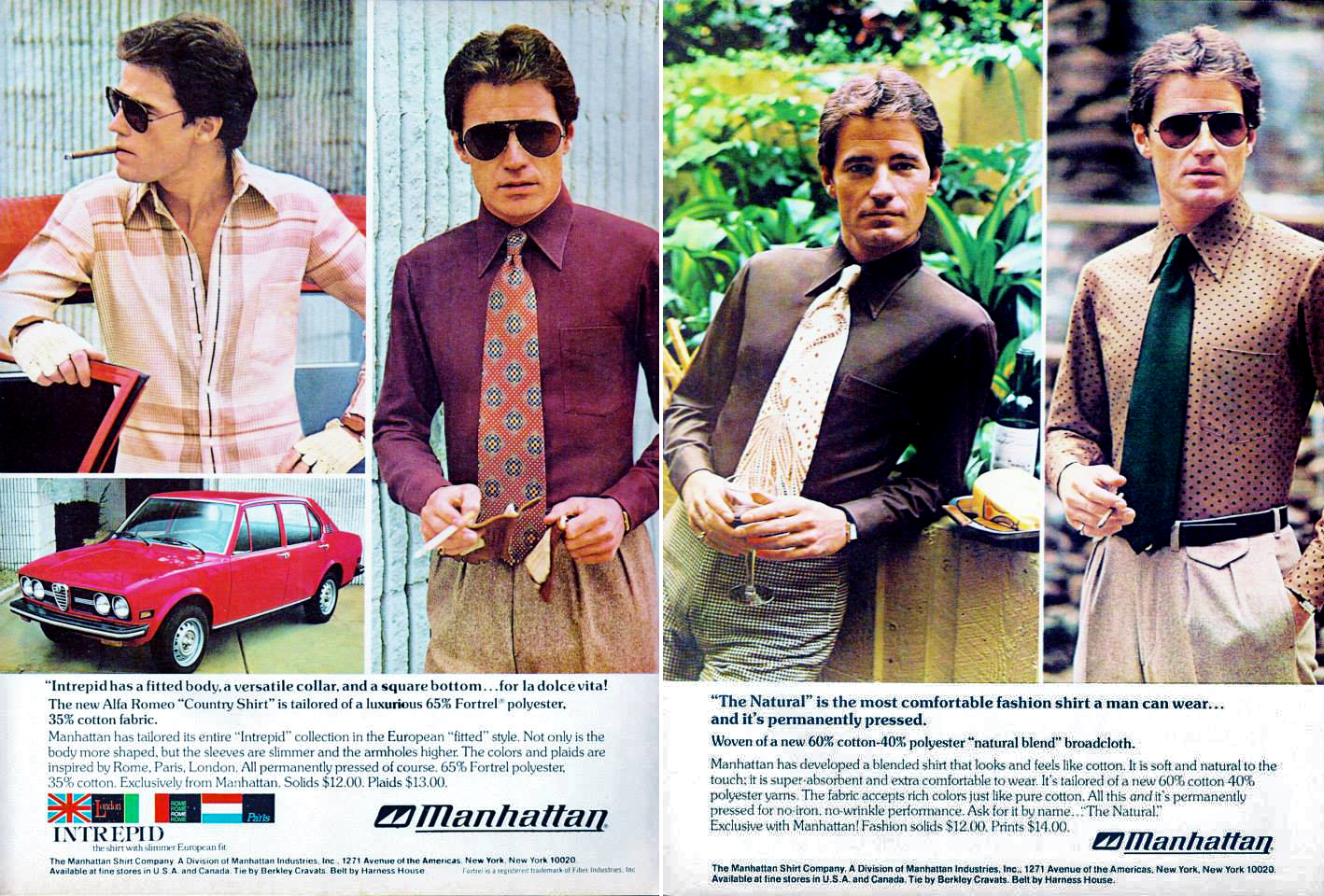 men's vintage fashion advertising