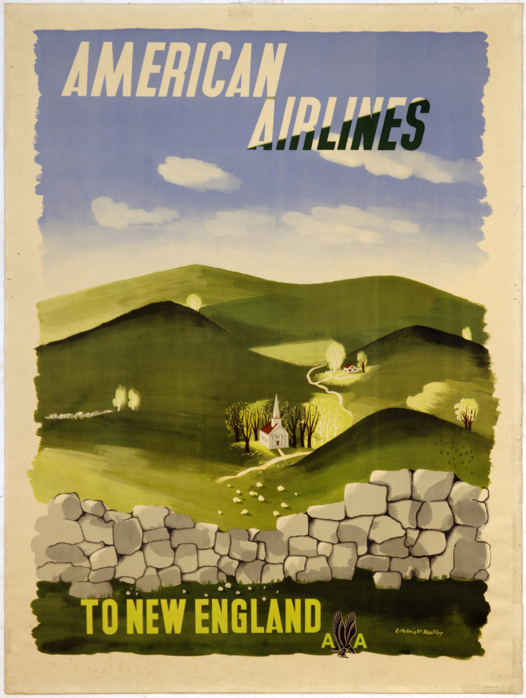 American Airlines to New England c.1950