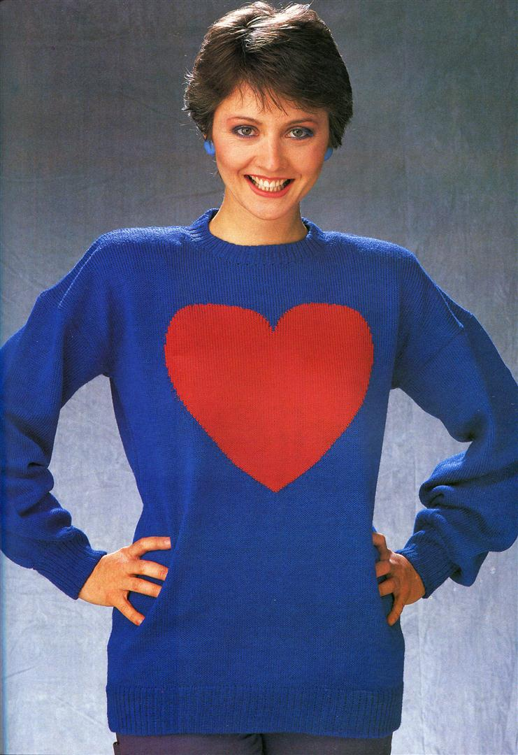 Anne Diamond ugly jumpers sweaters 1980s
