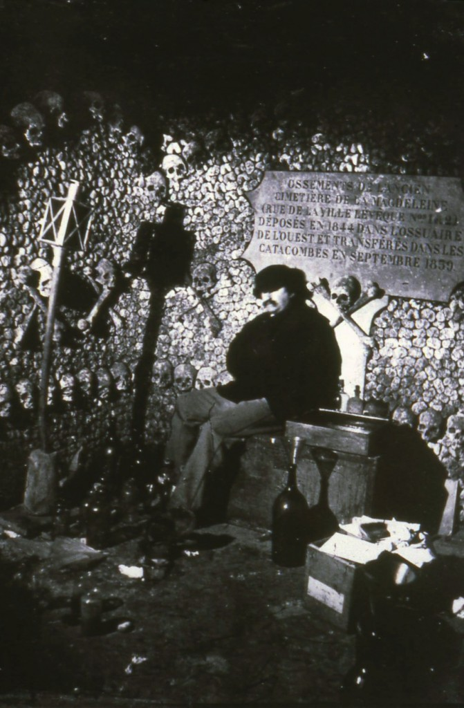 Nadar in the catacombs, Paris