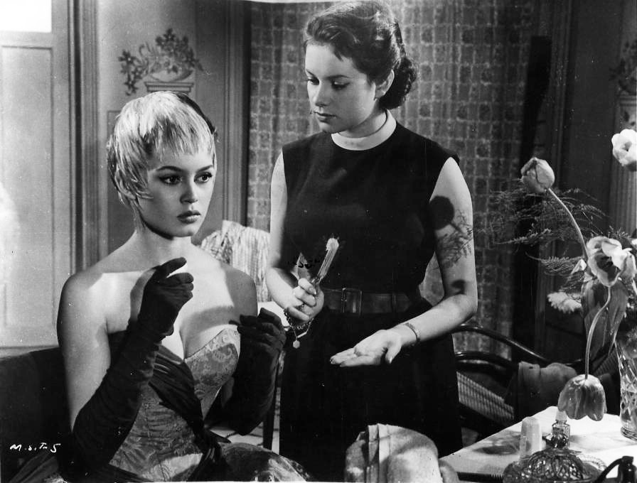 With Brigitte Bardot in Plucking The Daisy (1956):