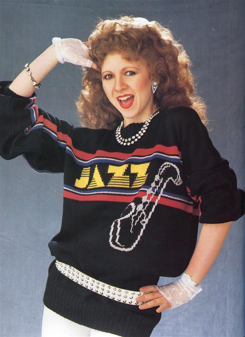 Bonnie Langford ugly jumpers sweaters 1980s