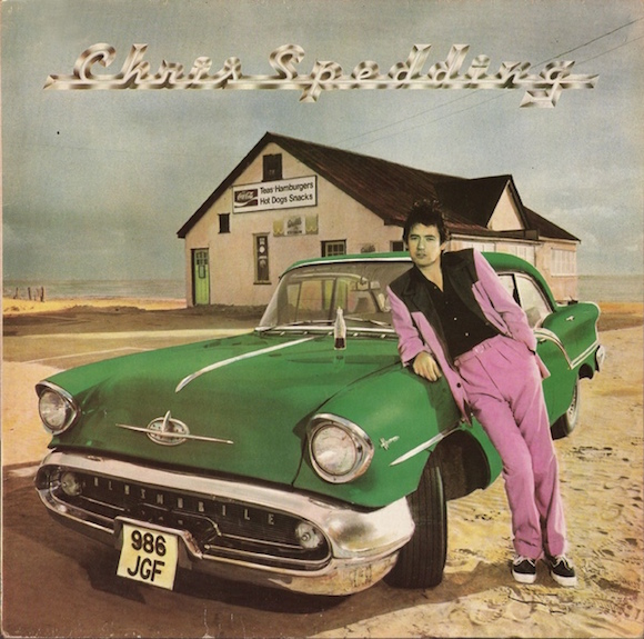 Cover of Spedding's 1976 solo album. Phot: Gered Mankowitz. Colour tinting: Arthur Allen