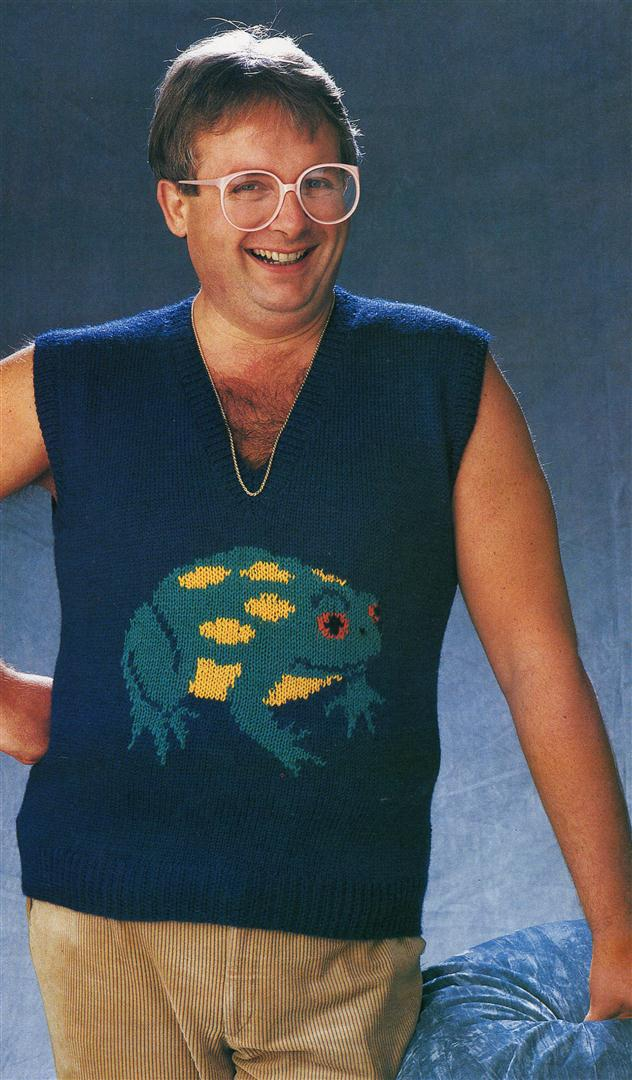 Christopher Biggins ugly jumpers sweaters 1980s