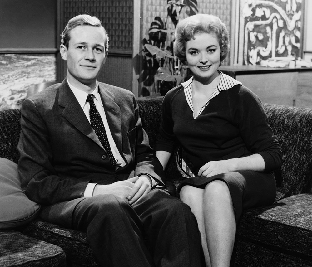 Christopher Trace and Leila Williams presenting Blue Peter in 1958