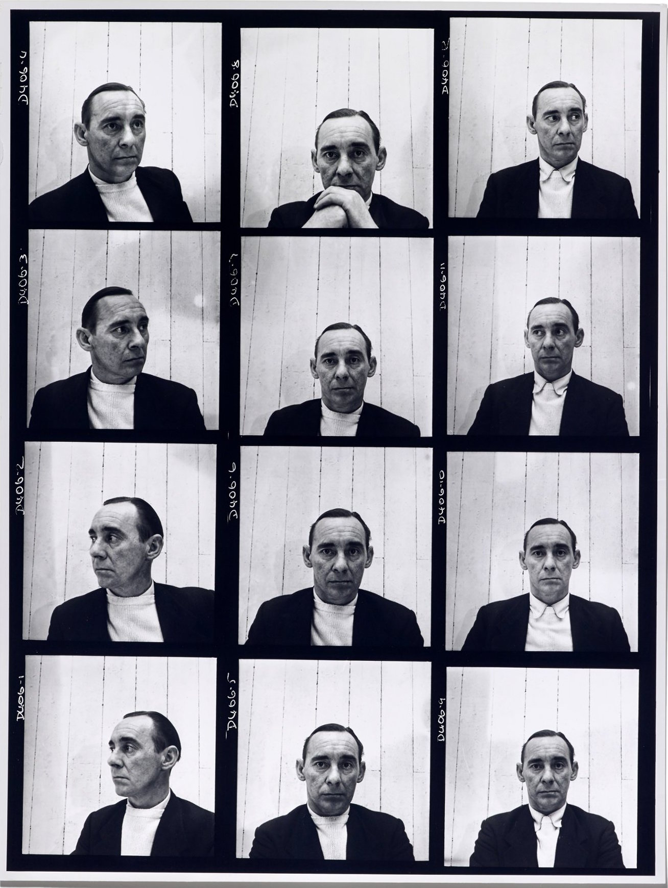 Contact sheet of self-portraits, 1952. (Vogue). Copyright John Deakin/Vogue Copyright 2014 The Conde Nast Publications Ltd