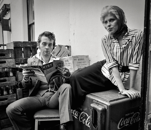 Another Fifties-themed shoot with Nylon, at the back of a King's Road cafe, west London, 1971. Photo: © Tony Hall. No reproduction without permissio