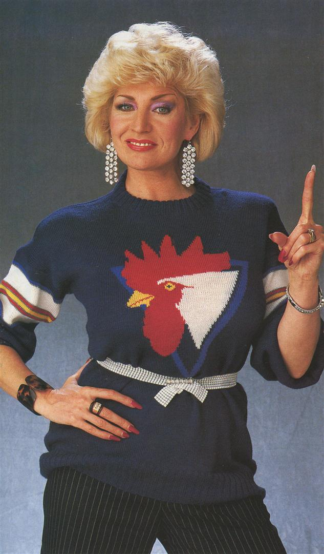 Faith Brown ugly jumpers sweaters 1980s
