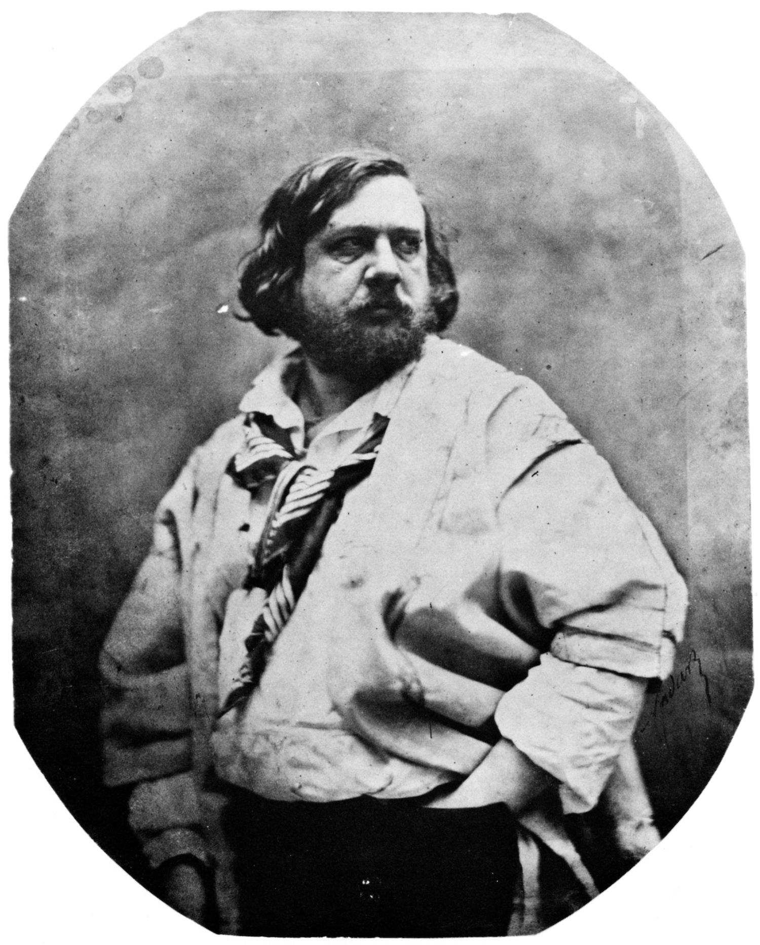 Theophile Gautier 1811-1872, French writer, Photograph by Felix Nadar (1856). Postcard, France, c. 1900