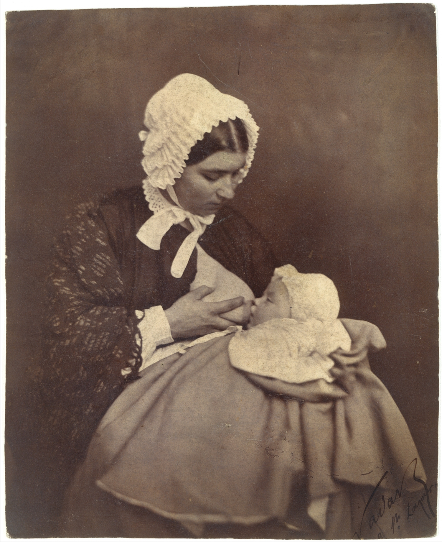 Paul Nadar at the Breast of His Wet Nurse (1856)