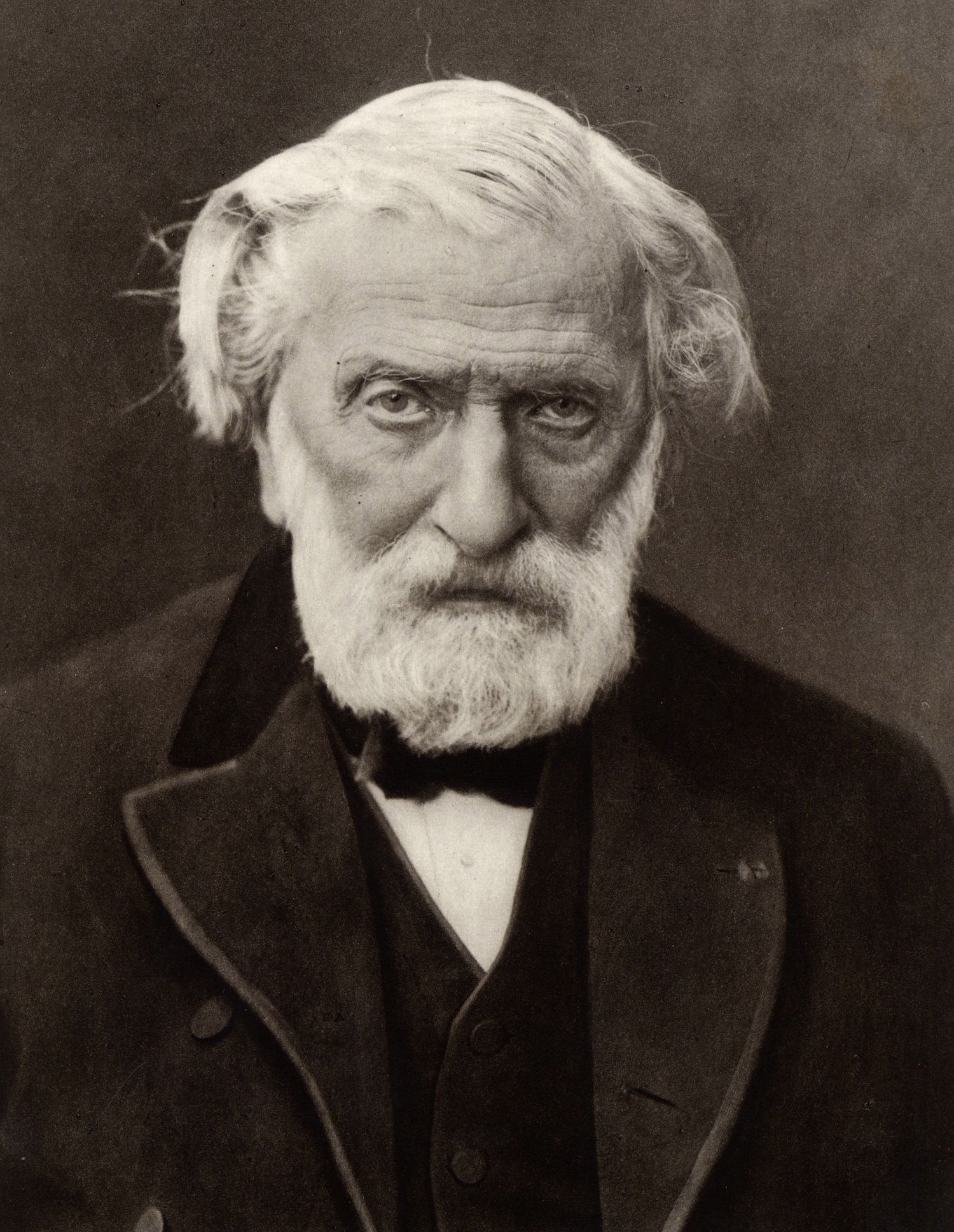 (Charles Louis) Ambroise Thomas (1811-1896) French composer and Director of the Paris Conservatoire from 1871. From a photograph by Nadar, pseudonym of Gaspard-Felix Tournachon (1820-1910).