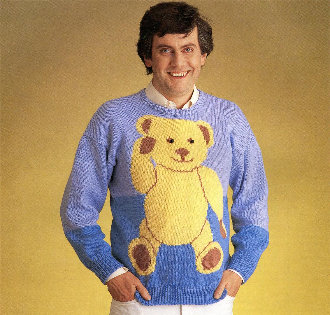 Gyles Brandreth ugly jumpers sweaters 1980s