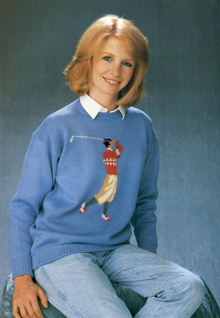 Jane Asher ugly jumpers sweaters 1980s