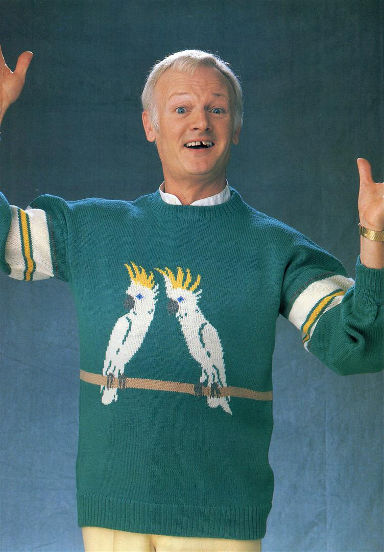 John Inman ugly jumpers sweaters 1980s