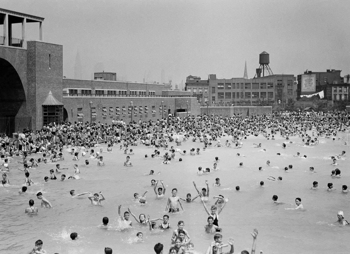 July 12 1937 Mccarren Park Pool C Flashbak