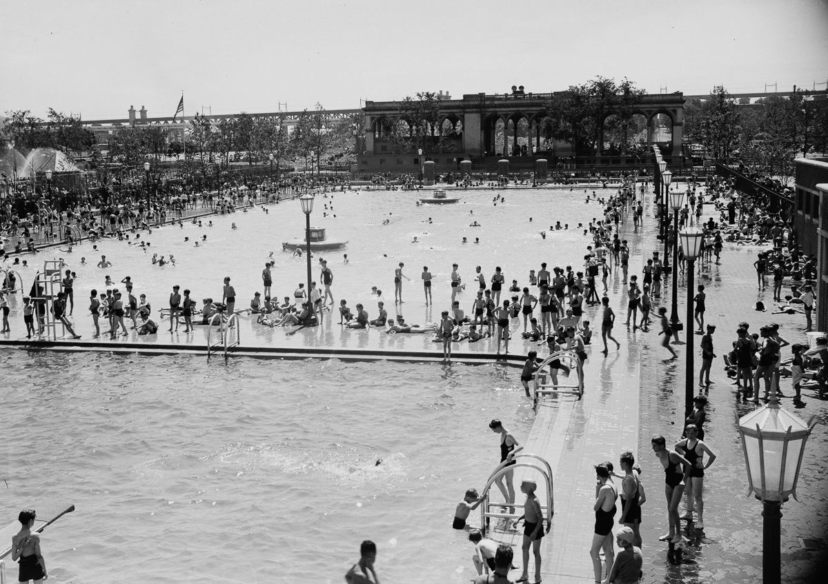 New York July 1936 Thomas Jefferson Park Pool.