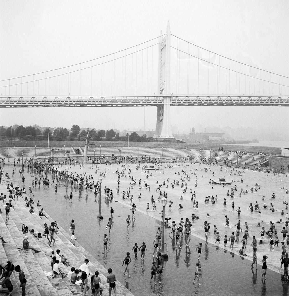 New York July 29, 1936 Astoria Park Pool.