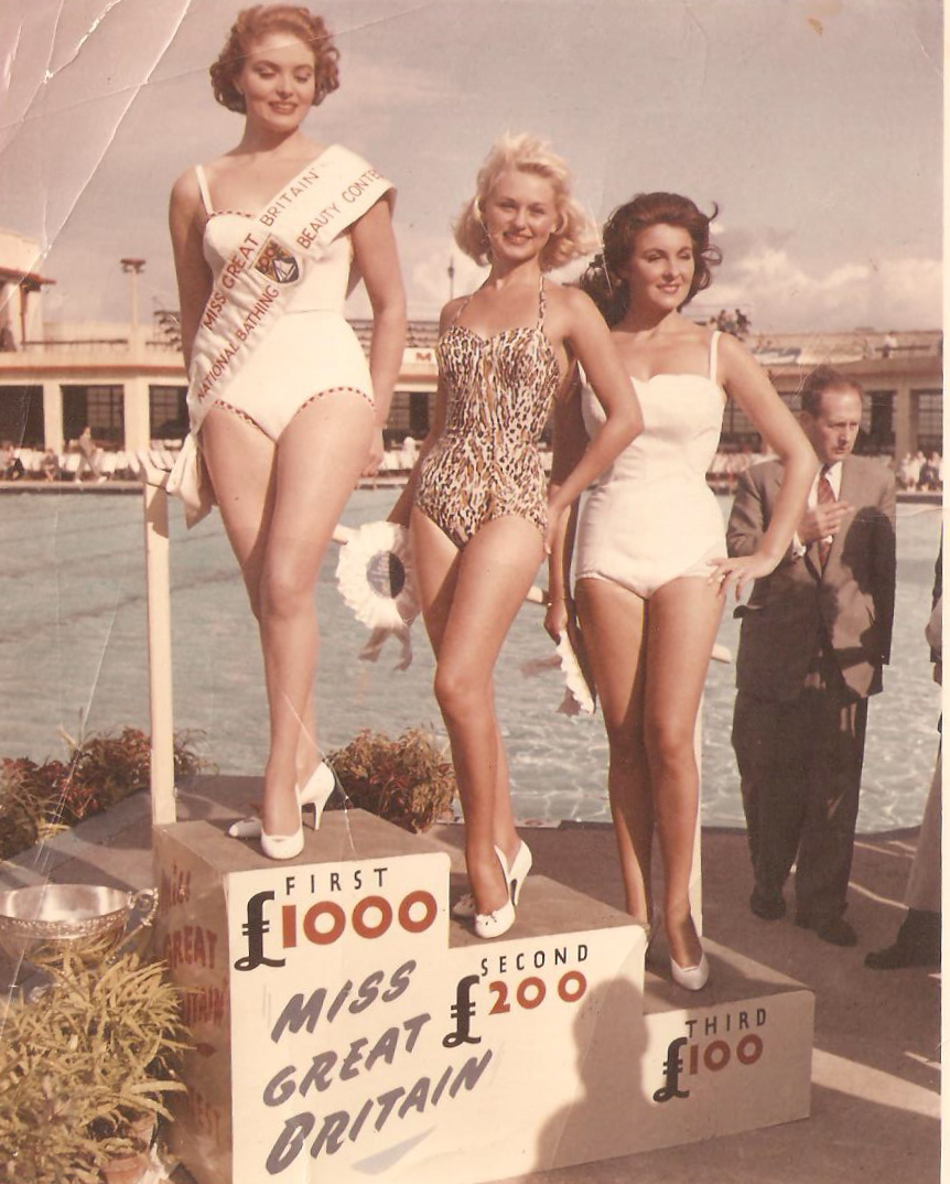 Leila Williams winning Miss Great Britain in 1957