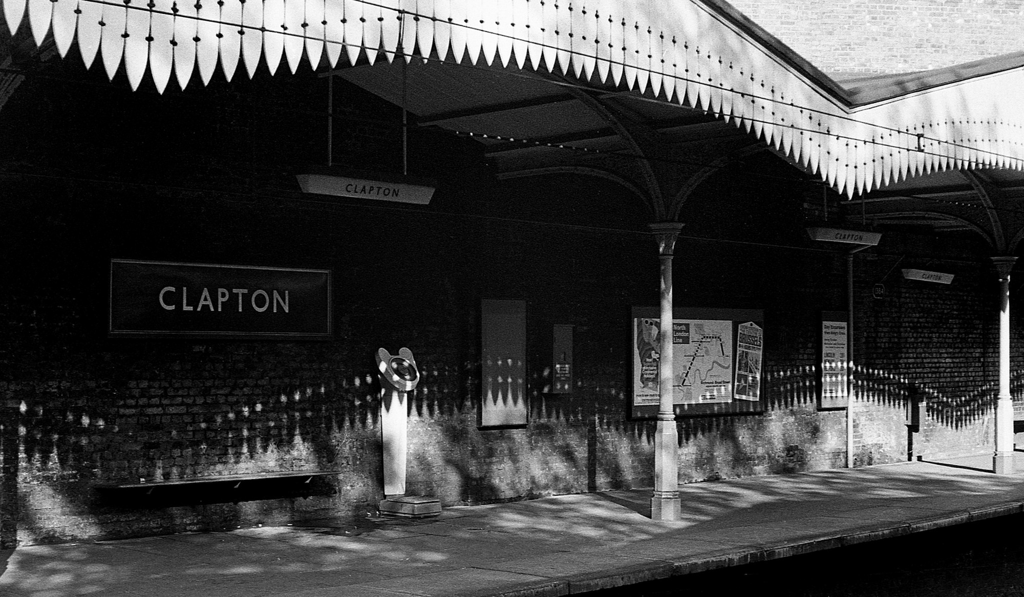 Clapton Station, Hackney, London 1967.