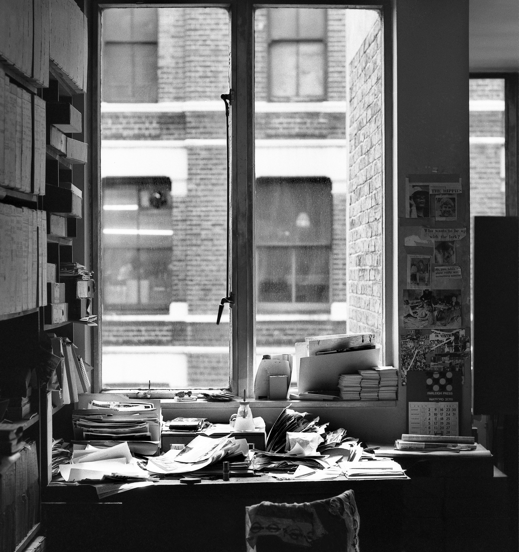 My desk, London - a lens test - 1967