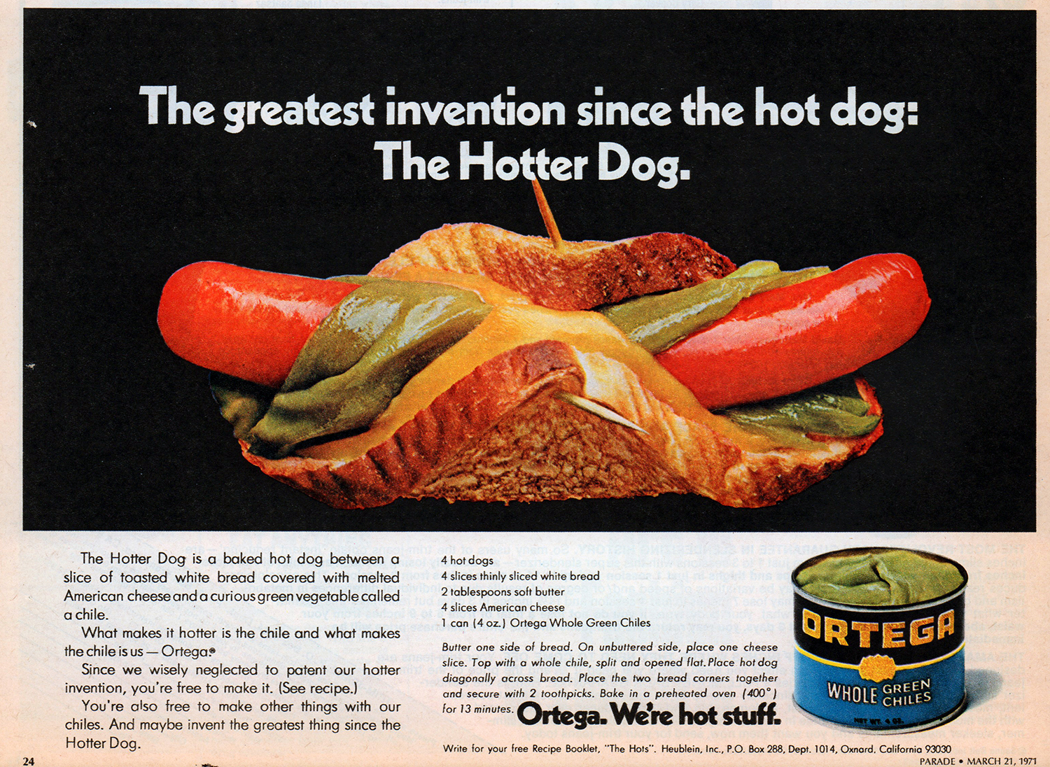 hot dog vintage advert