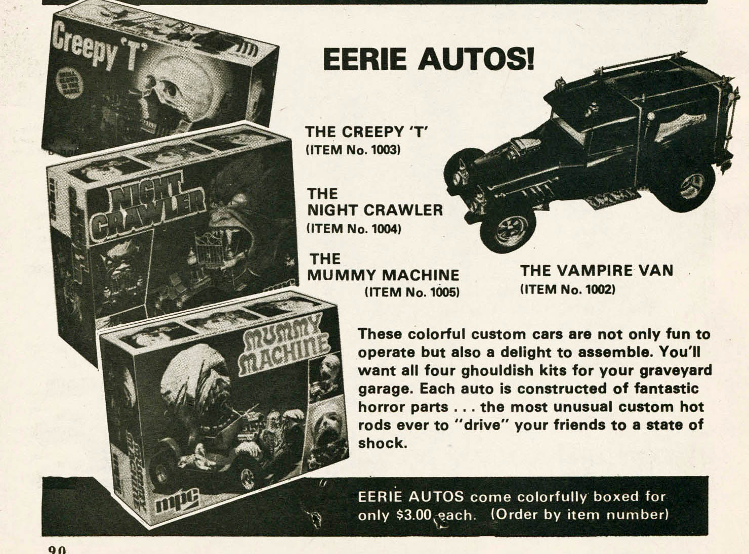 monster model car advert
