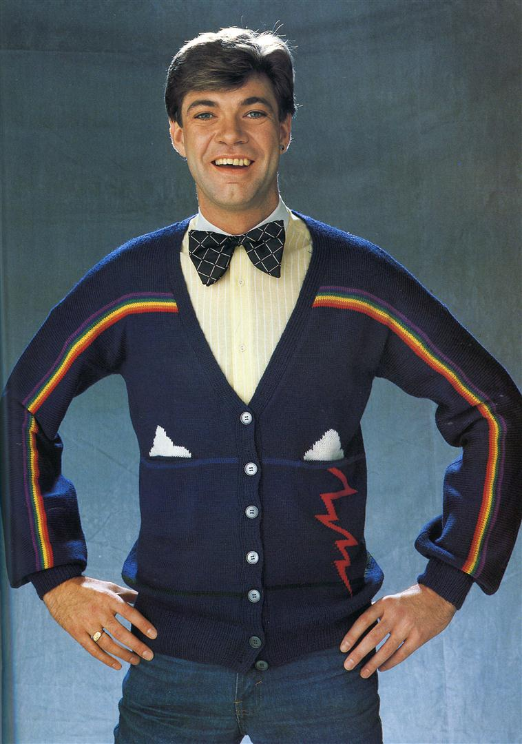 Matthew Kelly ugly jumpers sweaters 1980s