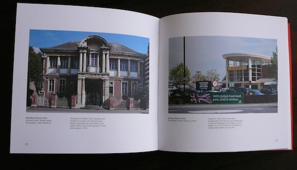 Left: Moseley School Of Art, closed 1975. Right: The site of Sidcup School Of Art, occupied since 2010 by a Morrisons and a car park