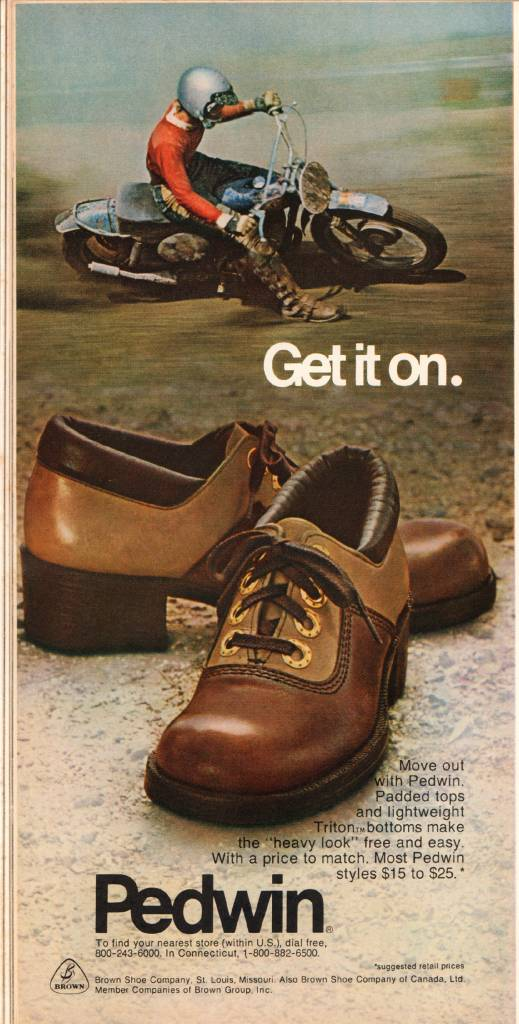 Pedwin Shoes - Get It On, September 1973