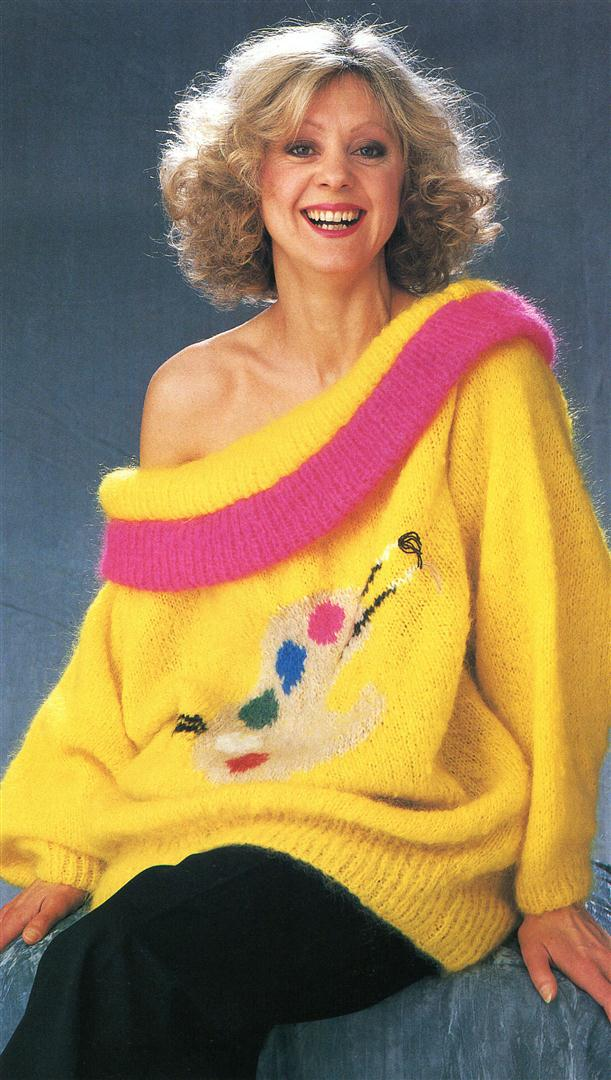 Rosalind Ayres ugly jumpers sweaters 1980s