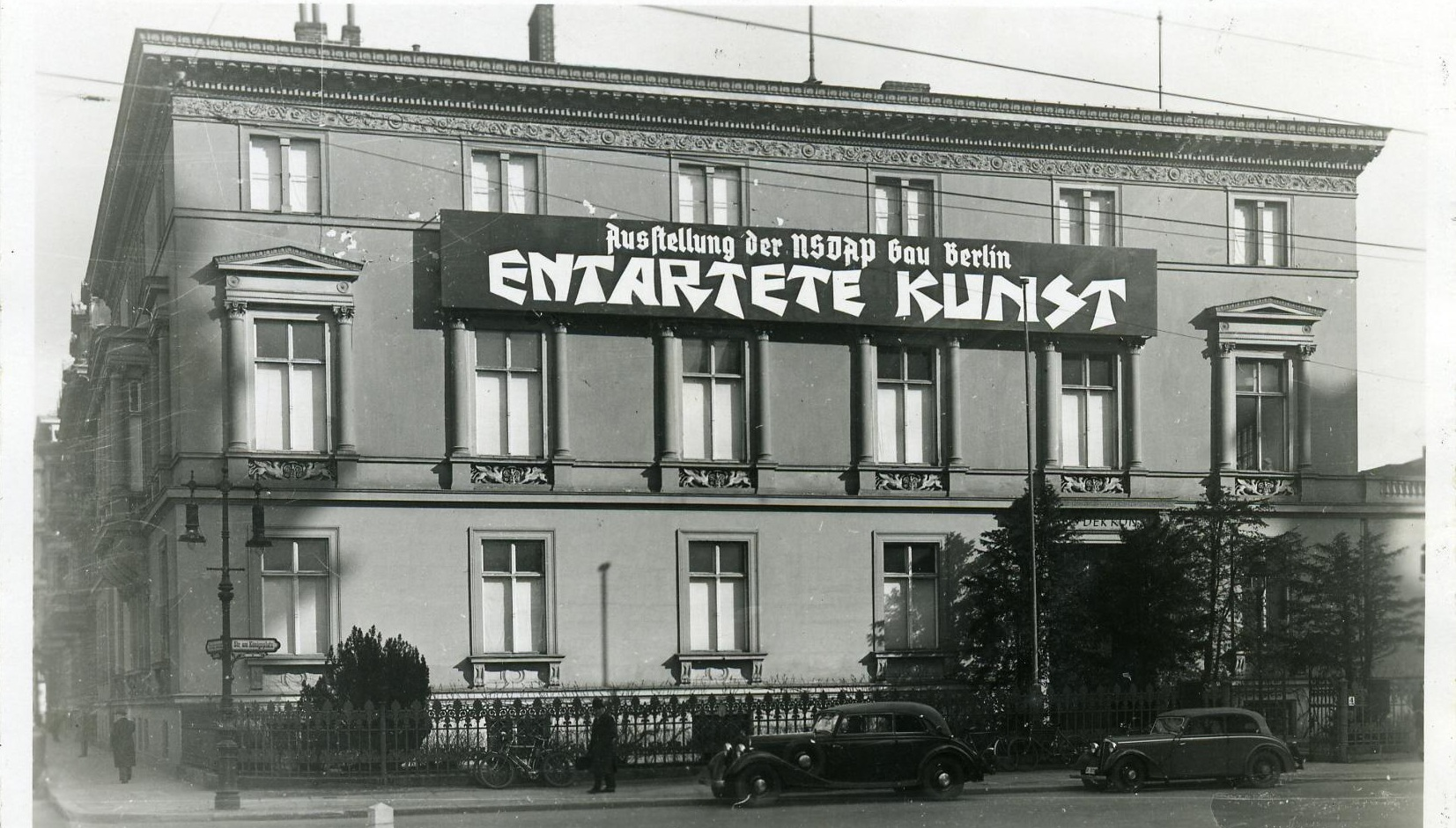 "The ""Degenerate Art"" exhibition building in Berlin, 1938"