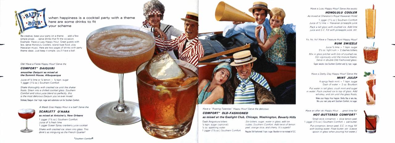 The Happy Hour Bar Guide from Southern Comfort page 8 and 9