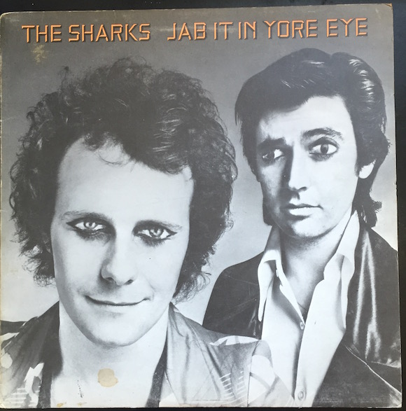 With Snips (Steve Parsons) on the cover of Sharks' 1974 album