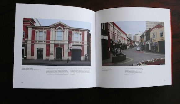Left: Walsall School Of Art, now Luvane Art Gallery. Right: Walsall Town Centre
